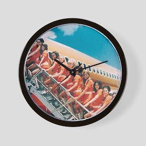 Flight Attendants Wall Clock
