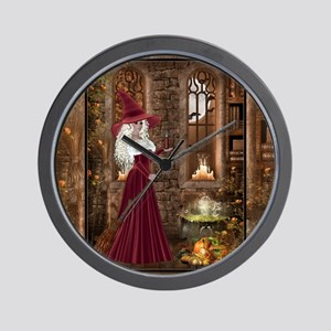 Witch with Candle Wall Clock