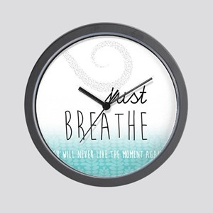 Just Breathe Wall Clock