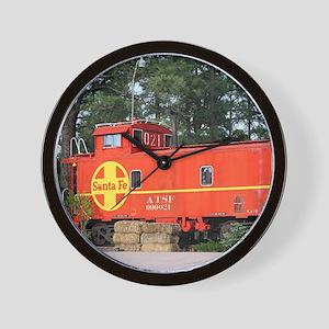Santa Fe Railway Train Caboose, William Wall Clock