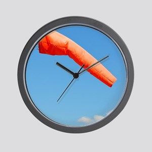 Windsock in an airfield Wall Clock