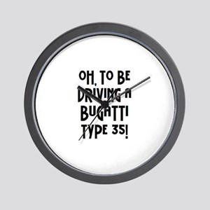 bugatti Wall Clock