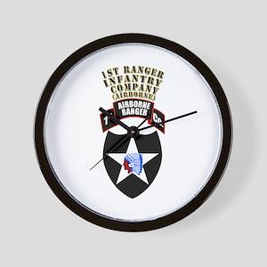 SOF - 1st Ranger Infantry Co - Abn Wall Clock