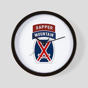 10th Mountain Sapper Wall Clock