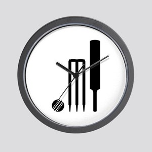 Cricket ball bat stumps Wall Clock
