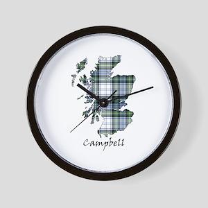 Map-Campbell dress Wall Clock