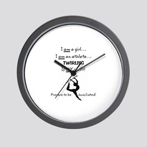 Twirling Athlete Wall Clock