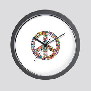 Peace to All Nations Wall Clock