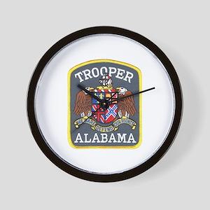 Alabama Trooper Wall Clock