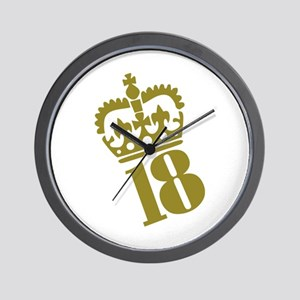 18th Birthday Wall Clock