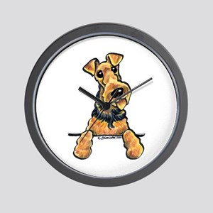 Welsh Terrier Paws Up Wall Clock