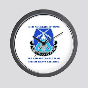 3rd BCT - Special Troops Bn with Text Wall Clock