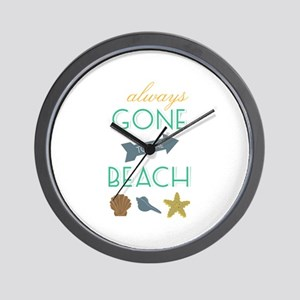 To The Beach Wall Clock