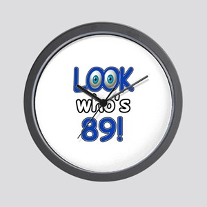 Look who's 89 Wall Clock