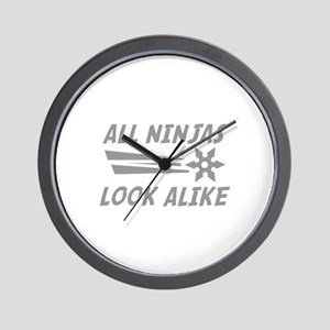All Ninjas Look Alike Wall Clock