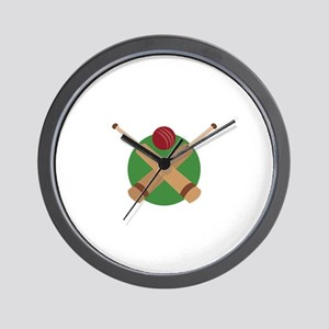 Cricket Bat Wall Clock