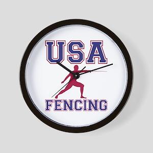 Usa Fencing Wall Clock
