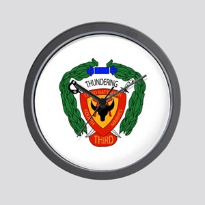 3rd Battalion 4th Marines with Text Wall Clock
