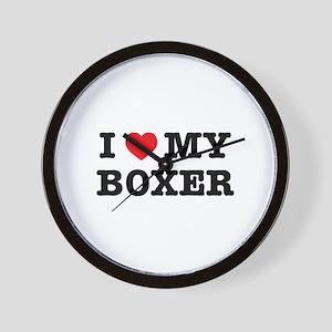 I Heart My Boxer Wall Clock