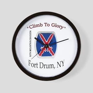 "10th Mountain Div ""Climb To G Wall Clock"