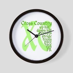 Cross Country XC green Wall Clock