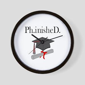 Ph.inisheD. Wall Clock