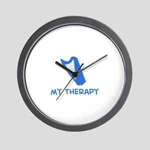 Celtic Harp my therapy Wall Clock