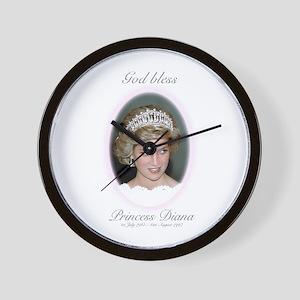 HRH Princess Diana Remembrance Wall Clock