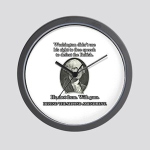 Washington Used Guns Wall Clock