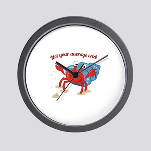 Average Crab Wall Clock