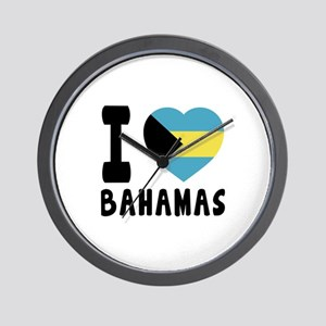 I Love Bahamas Wall Clock