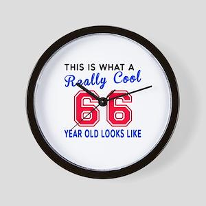 Really Cool 66 Birthday Designs Wall Clock