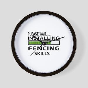 Please wait, Installing Fencing Skills Wall Clock