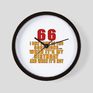 66 Birthday Designs Wall Clock