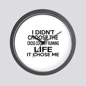 Cross Country Running It Chose Me Wall Clock