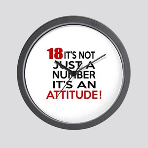 18 It Is Not Just a Number Birthday Des Wall Clock