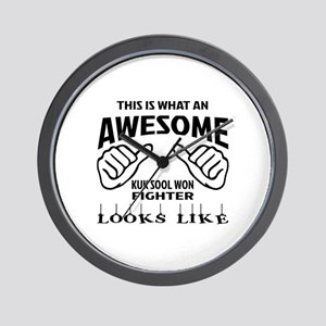 This is what an Kuk Sool Won Fighter lo Wall Clock