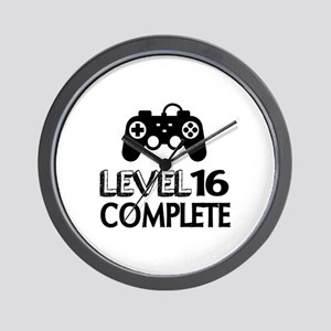 Level 16 Complete Birthday Designs Wall Clock