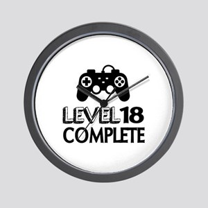 Level 18 Complete Birthday Designs Wall Clock