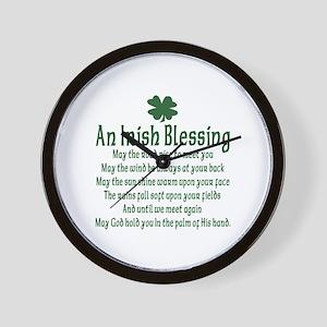 Irish Blessing Wall Clock