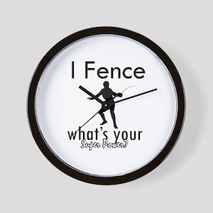 I Fence Wall Clock