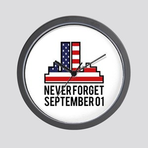 9 11 Never Forget Wall Clock