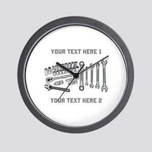 Wrenches with Text. Wall Clock