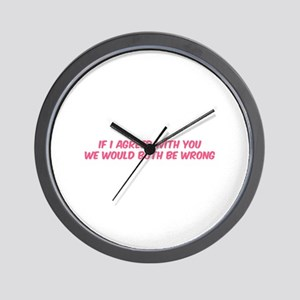 If I agreed with you Wall Clock