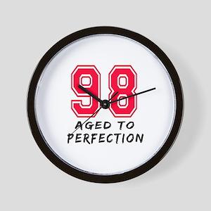 98 Year birthday designs Wall Clock
