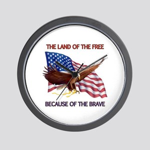 Land of the Free... Wall Clock