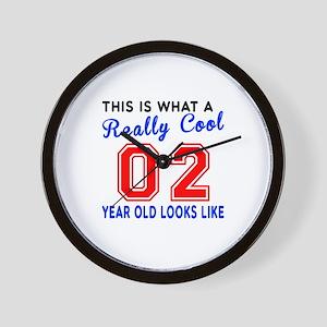 Really Cool 02 Birthday Designs Wall Clock
