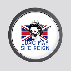 Queen Elizabeth II:  Long May She Reign Wall Clock