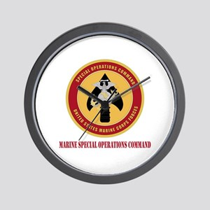 Marine Special Ops Cmd with Text Wall Clock