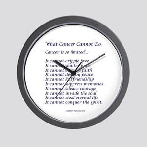 What Cancer Cannot Do Poem Wall Clock